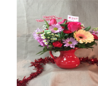 Pitcher of Love Bouquet in Freeport IL, Deininger Floral Shop
