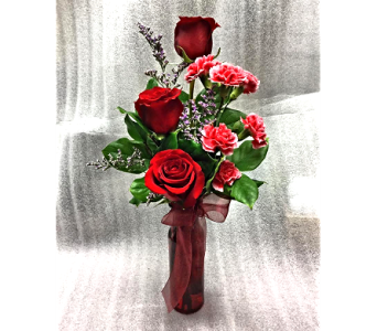 3 rose/mini carn combo in Sioux Lookout ON, Cheers! Gifts, Baskets, Balloons & Flowers