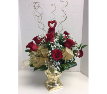 Golden Valentine in Meriden CT, Rose Flowers & Gifts