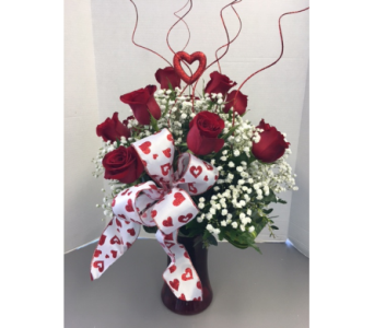 Valentine dozen in Meriden CT, Rose Flowers & Gifts