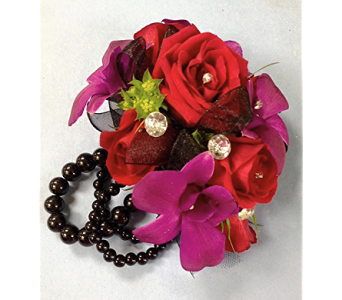 Beaming with Beads Wrist Corsage in Fairless Hills PA, Flowers By Jennie-Lynne