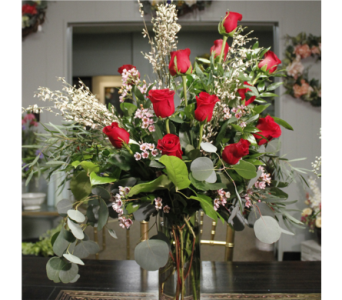 Nance's Exclusive High-Design Dozen Roses Bouquet in New Albany IN, Nance Floral Shoppe, Inc.