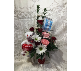 Cup Full of Love Bouquet in Kokomo IN, Bowden Flowers & Gifts