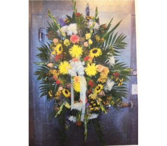 MIXED FUNERAL SPRAY in Port Chester NY, Floral Fashions