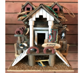 Fishing Pier Bird House in Huntington WV, Archer's Flowers and Gallery