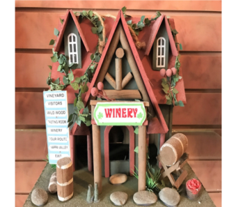 Winery Bird House in Huntington WV, Archer's Flowers and Gallery