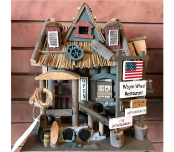 Wagon Wheel Restaurant Bird House in Huntington WV, Archer's Flowers and Gallery