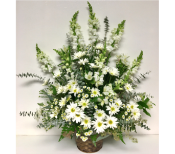 The Purest Light Traditional Sympathy Arrangement in Wyoming MI, Wyoming Stuyvesant Floral
