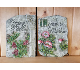 Loving Mother/Father Stepping Stone in Moorhead MN, Country Greenery