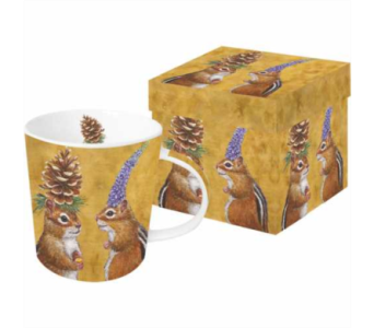 Gift Box Mug - Chipmunk Court Ship in Moorhead MN, Country Greenery