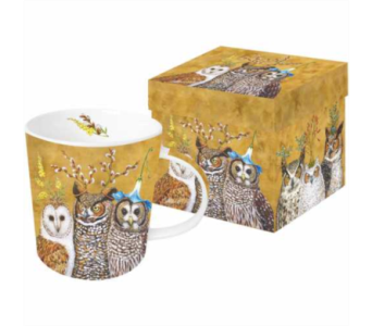 Gift Box Mug - Owl Family in Moorhead MN, Country Greenery
