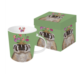 Gift Box Mug - Sweet Pea in Moorhead MN, Country Greenery