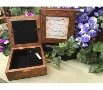 Copper Plated Memory/Music Box - Simply Amazing in Owensboro KY, Welborn's Floral Company