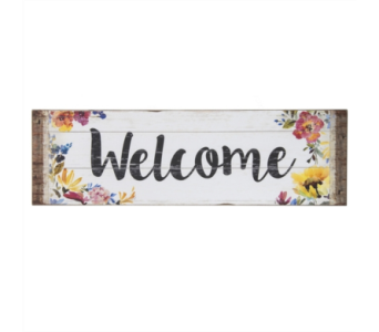 Bloom Welcome Sign in Eugene OR, Dandelions Flowers