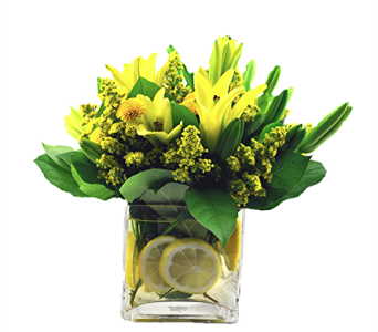 Lilies and Lemons in Spartanburg SC, A-Arrangement Florist