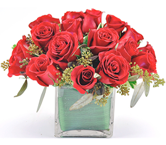 Rose Cube Red in Spartanburg SC, A-Arrangement Florist