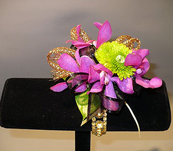 Orchid Wrist Corsage in San Diego CA, Mission Hills Florist