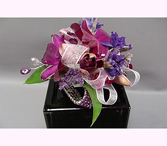 Purple Corsage in San Diego CA, Mission Hills Florist