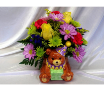 Birthday Bear Bouquet in Hollidaysburg PA, Warner's Florist Gifts & Greenhouse