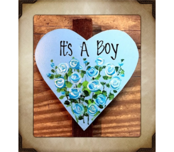 It's A Boy!  in Yorba Linda CA, Garden Gate
