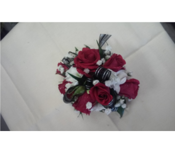 White Rose with Accent Ribbon in Brecksville OH, Brecksville Florist