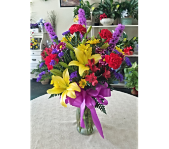 Big Bright Vase in Lehigh Acres FL, Bright Petals Florist, Inc.