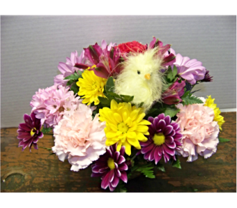 SPRING CHICK in Claremont NH, Colonial Florist