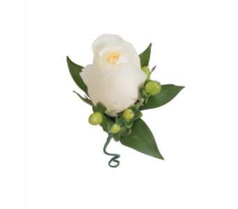 Rose Boutonniere with Coffee Berry Greenery in Little Rock AR, Tipton & Hurst, Inc.