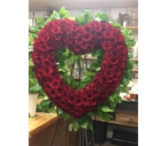 RED ROSES OPEN HEART in Port Chester NY, Floral Fashions