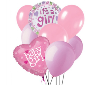 Baby Girl Balloon Bouquet in Toronto ON, The Flower Nook