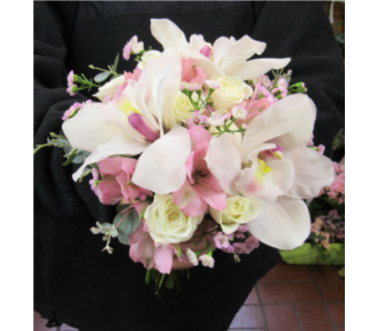 Cymbidium Orchid Prom Bouquet in Royersford PA, Three Peas In A Pod Florist