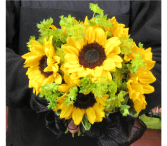 Sunflower Prom Bouquet in Royersford PA, Three Peas In A Pod Florist