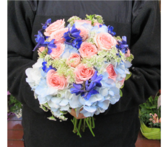 Mixed Flowers with Hydrangea Prom Bouquet in Royersford PA, Three Peas In A Pod Florist