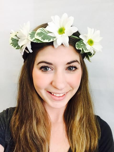 Daisy Hair Crown in West Los Angeles CA, Sharon Flower Design