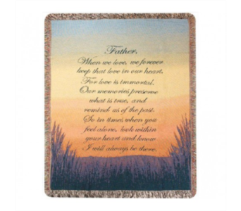 Forever A Father Throw Blanket in Ambridge PA, Heritage Floral Shoppe