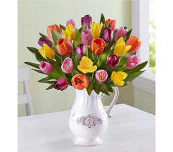 Welcome Spring Tulip Bouquet in Huntington WV, Archer's Flowers and Gallery