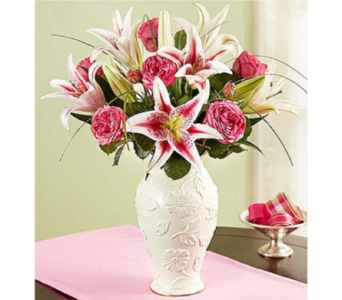 Garden Rose and Lily Bouquet in Lenox� in Huntington WV, Archer's Flowers and Gallery
