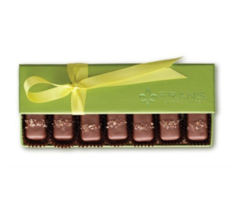 FRANS CHOCOLATE CARAMELS SPRING BOX in Bellevue WA, CITY FLOWERS, INC.