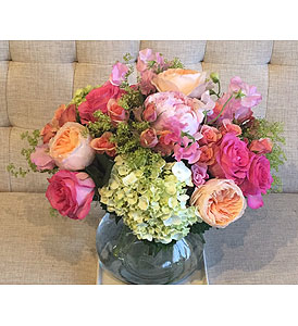 Peaches and Pinks in Charleston SC, Tiger Lily Florist Inc.