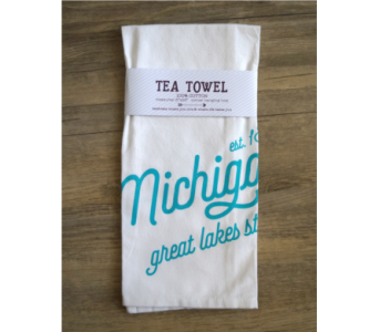 Tea Towel - Michigan in Muskegon MI, Wasserman's Flower Shop