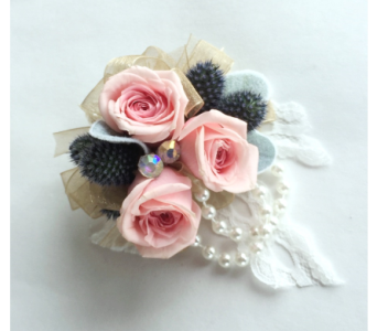 Classic Romance Wrist Corsage in Schofield WI, Krueger Floral and Gifts