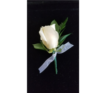 Single Rose Boutonniere with ribbon loop. in Burnsville MN, Dakota Floral Inc.