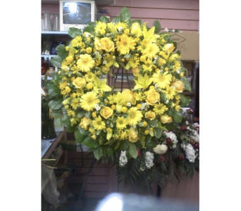Vivid Expressions Standing Wreath in Port Chester NY, Port Chester Florist