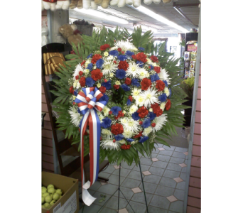 Patriotic Standing Wreath in Port Chester NY, Port Chester Florist