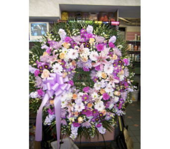 Pastel Standing Wreath in Port Chester NY, Port Chester Florist