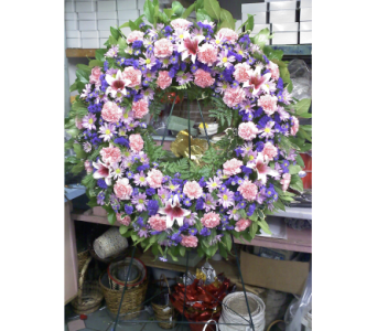 Soft Impressions Standing Wreath in Port Chester NY, Port Chester Florist