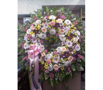 Graceful Beauty Standing Wreath in Port Chester NY, Port Chester Florist