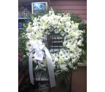 Angelic Standing Wreath in Port Chester NY, Port Chester Florist