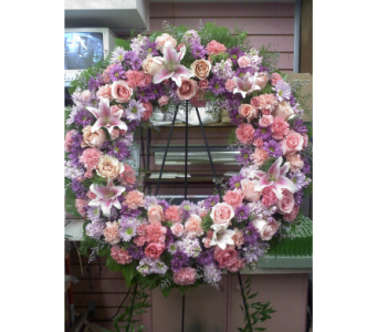 Charming Elegance Standing Wreath in Port Chester NY, Port Chester Florist