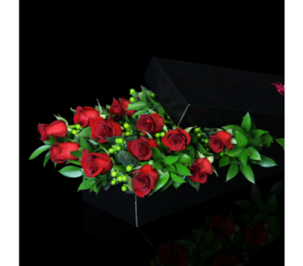 Luxurious Dozen Red Roses Boxed in Boston MA, Stapleton Floral